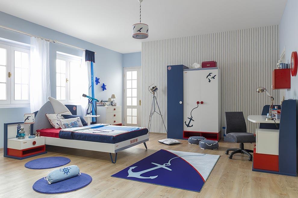 Kinderzimmer Junge Blau